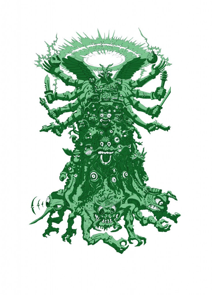 tmnt fanzine poster green